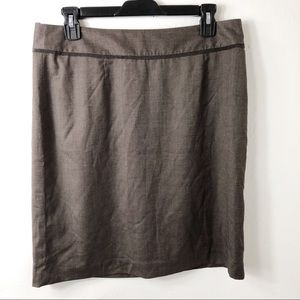 NEW $60 Banana Republic Brown Pencil Skirt 10
